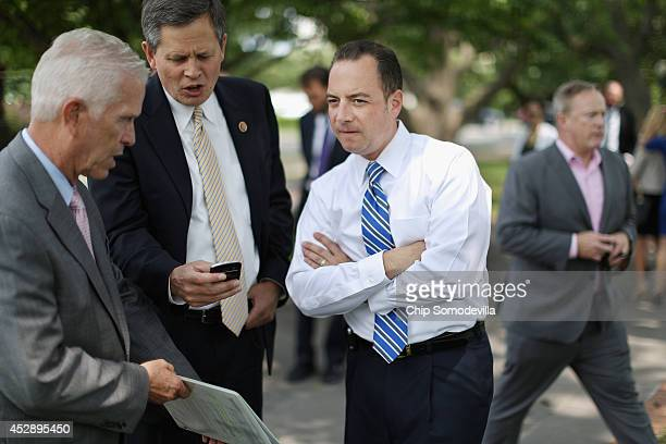 Republican National Committee Chairman Reince Priebus joins GOP members of Congress to call for Senate Majority Leader Harry Reid to be 'fired'...