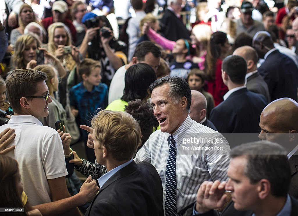 Republican nominee for President Governor Mitt Romney and Vice Presidential running mate Congressman Paul Ryan (R-WI) at a rally in Henderson, Nevada, Tuesday, October, 23, 2012.