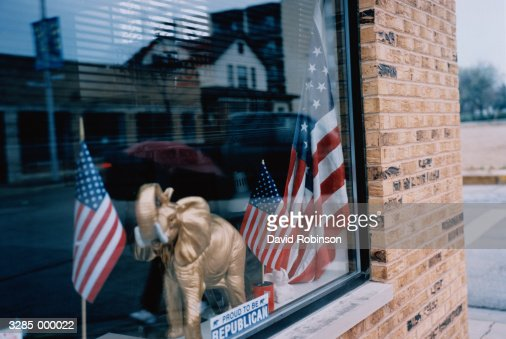 Republican Party Window : Stock Photo