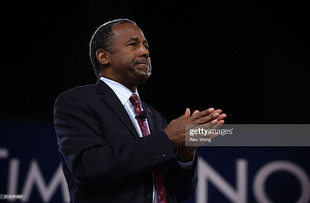 Republican presidential candidate Ben Carson speaks during CPAC 2016 March 4 2016 in National Harbor Maryland Carson announced he is dropping out of...