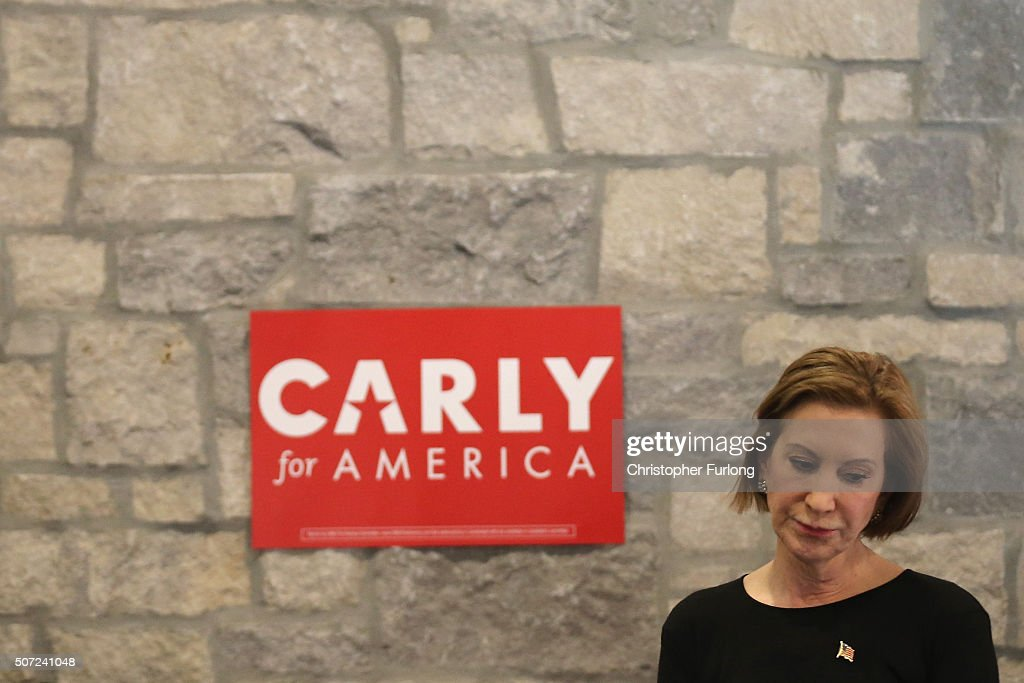 Carly Fiorina Campaigns In Iowa Ahead Of State's Caucuses