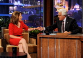 Republican presidential candidate Congresswoman Michele Bachmann appears on the Tonight Show With Jay Leno at NBC Studios on September 16 2011 in...