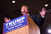 Republican presidential candidate Donald Trump speaks at a rally at the Nugget February 23 2016 in Sparks Nevada The Nevada GOP caucus is tonight
