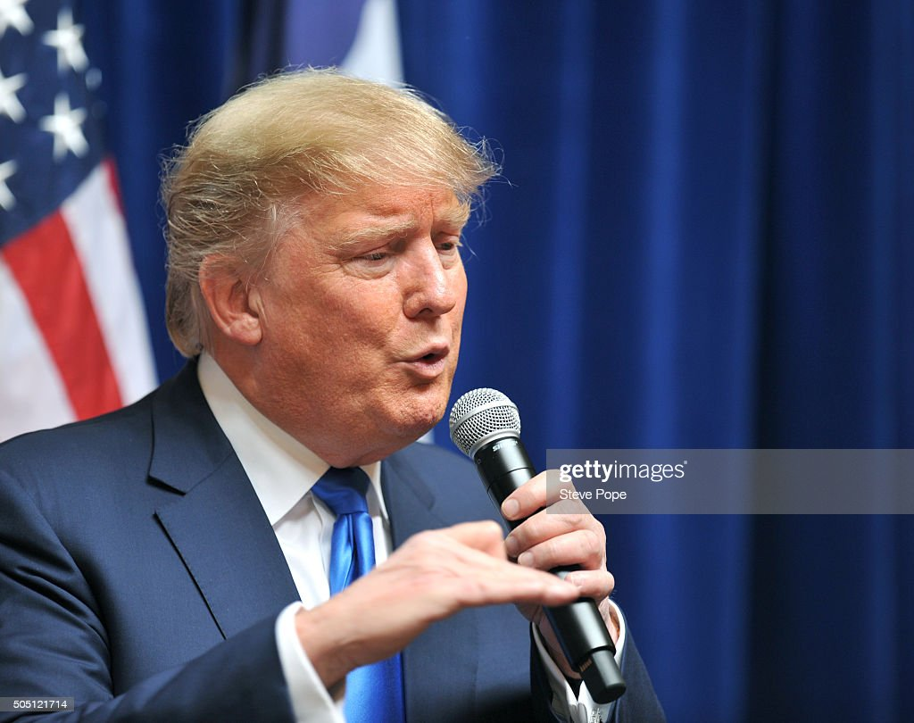 Donald Trump Campaigns In Iowa Day After GOP Debate ...