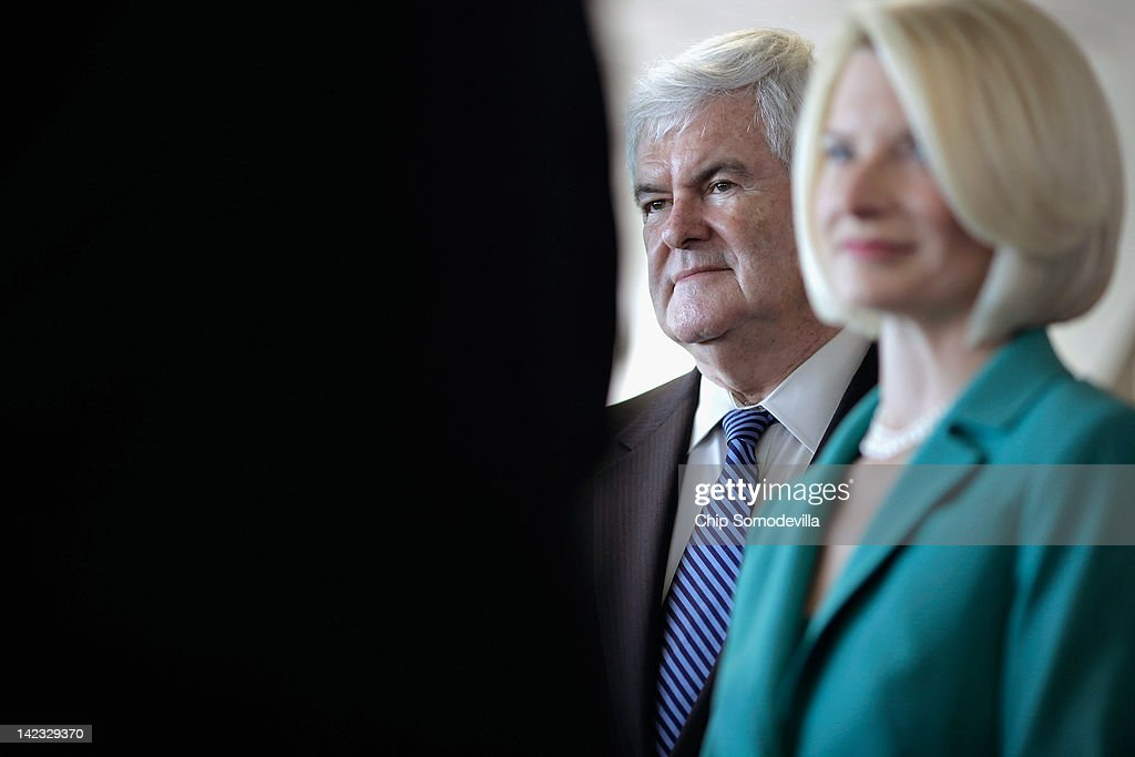 Newt Gingrich Campaigns In Maryland Ahead Of Primary