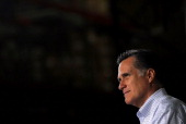 Republican presidential candidate former Massachusetts Gov Mitt Romney attends a town hall style meeting at Moore Oil on April 2 2012 in Milwaukee...