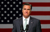 Republican presidential candidate former Massachusetts Gov Mitt Romney speaks during a campaign stop at Lansing Community College May 8 2012 in...