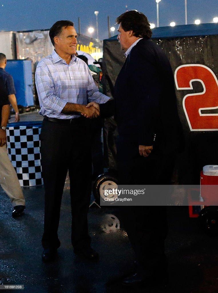 Mitt Romney Visits NASCAR in Virginia