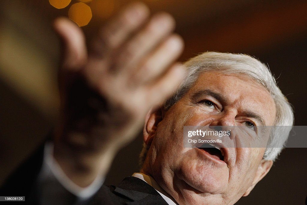 GOP Candidate Newt Gingrich Holds Primary Night Gathering In Orlando