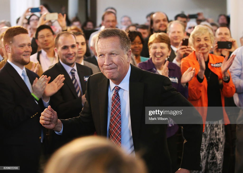 John Kasich Holds Campaign Town Hall In Maryland