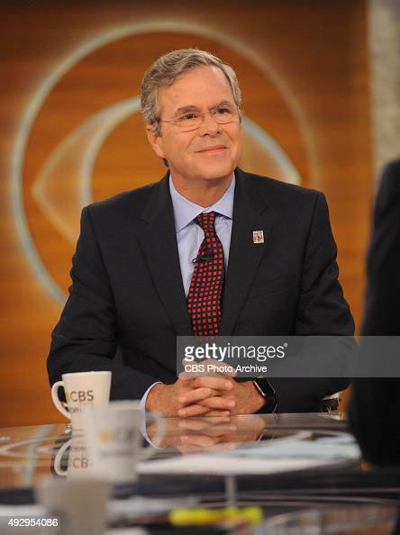 Republican Presidential Candidate Governor Jeb Bush visits CBS This Morning with Cohosts Charlie Rose Norah O'Donnell and Gayle King on Friday Oct 16...