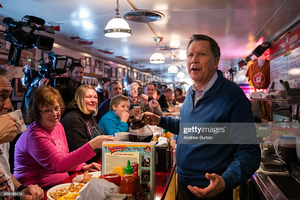 John Kasich Campaigns In New Hampshire On Primary Day