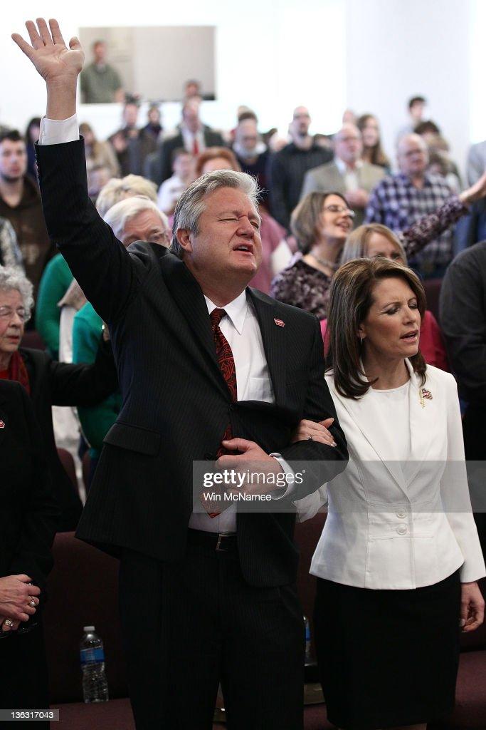 Michele Bachmann Attends Church Service In Iowa