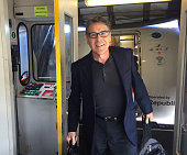 Republican Presidential Candidate Rick Perry arrives at ManchesterBoston Regional Airport in New Hampshire at the start of his Presidential election...
