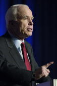 S Republican presidential candidate Sen John McCain speaks at a Conservative Political Action Conference convention February 7 in Washington Former...
