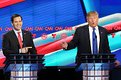 Republican presidential candidate Sen Marco Rubio reacts to a point by Donald Trump during the Republican presidential debate at the Moores School of...