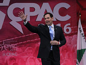 Republican presidential candidate Sen Marco Rubio walks up to speak at the CPAC 2016 conference March 5 2016 in National Harbor Maryland The American...