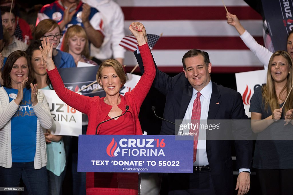 GOP Presidential Candidate Ted Cruz Announces Carly Fiorina As Running Mate
