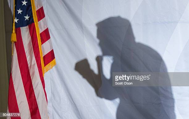 Republican presidential candidate Sen Ted Cruz speaks during a campaign rally at The Gatherings on January 13 2016 in Dorchester South Carolina...