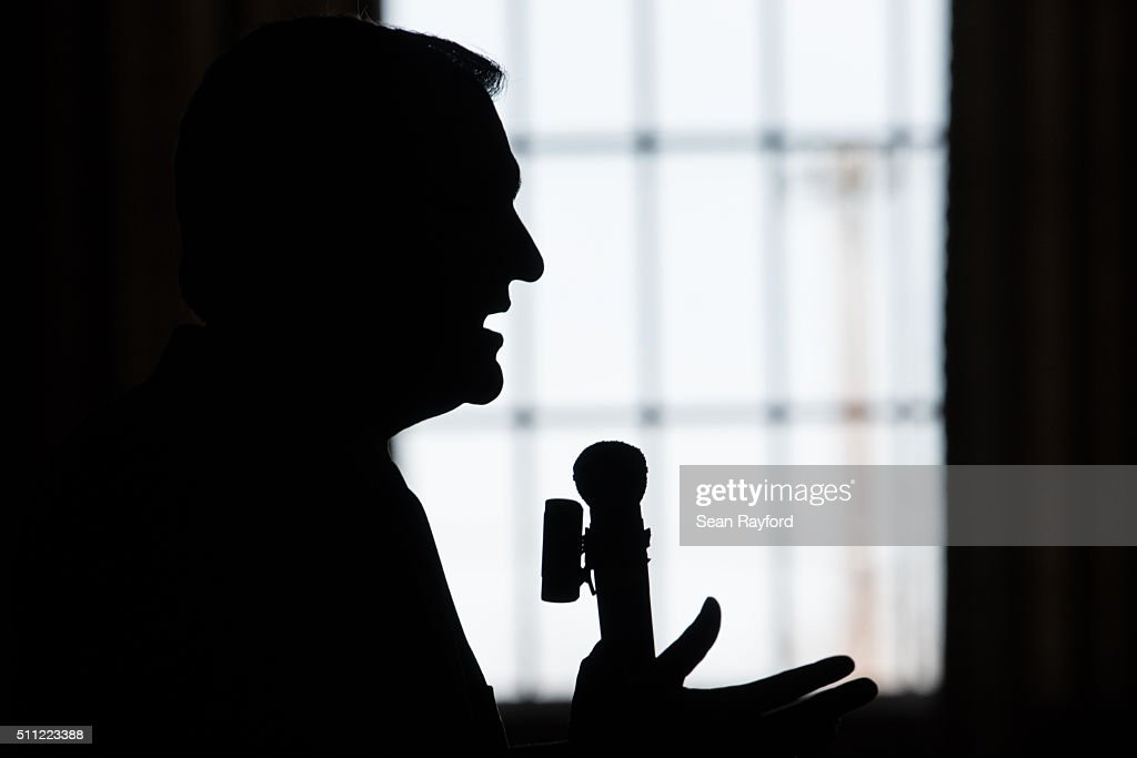Republican presidential candidate Ted Cruz addresses a Republican women's organization at the Poinsett Club February 18 2016 in Greenville South...