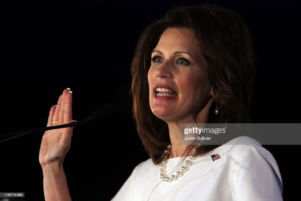 Republican presidential candidate U.S. Rep. Michele Bachmann (R-MN) speaks during the 2011 Republican Leadership Conference on June 17, 2011 in New Orleans, Louisiana. The 2011 Republican Leadership Conference runs through tomorrow and will feature keynote addresses from most of the major Republican candidates for president as well as numerous Republican leaders from across the country.