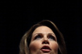 Republican presidential candidate US Rep Michele Bachmann speaks to a Town Hall meeting held at the Principal Financial Group December 29 2011 in Des...