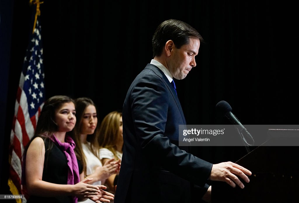 Presidential Candidate Sen. Marco Rubio  Holds Primary Night Gathering In Miami