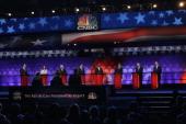 Republican presidential candidates former US Senator from Pennsylvania Rick Santorum US Representative Michele Bachmann former Speaker of the House...