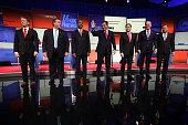 Republican presidential candidates Ohio Governor John Kasich Jeb Bush Sen Marco Rubio Sen Ted Cruz Ben Carson New Jersey Governor Chris Christie and...