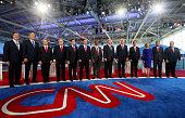 Republican presidential candidates Rick Santorum George Pataki US Sen Rand Paul Mike Huckabee US Sen Marco Rubio US Sen Ted Cruz Ben Carson Donald...