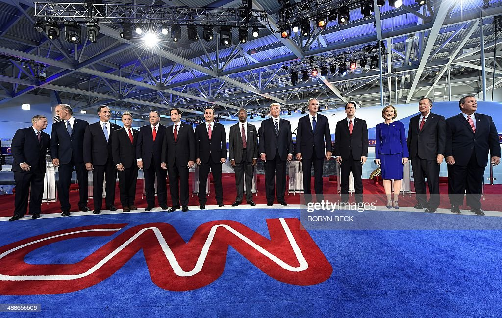 Republican presidential hopefuls South Carolina Sen Lindsay Graham former New York Gov George Pataki Sen Rick Santorum Kentucky Sen Rand Paul former...
