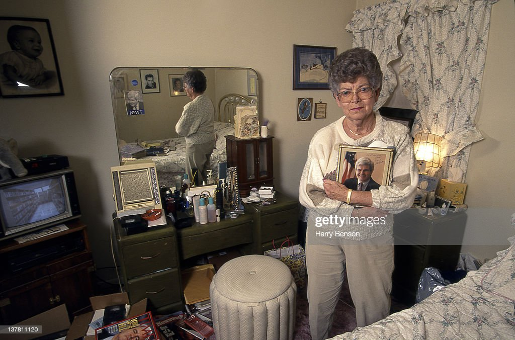 Republican presidential nominee Newt Gingrich's mother Kathleen 'Kit' Gingrich is photographed for People Magazine in 1995 in Marietta, Georgia.