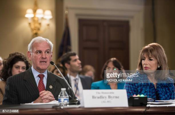 US Republican Representative from Alabama Bradley Byrne speaks during a House Administration Committee hearing on 'Preventing Sexual Harassment in...