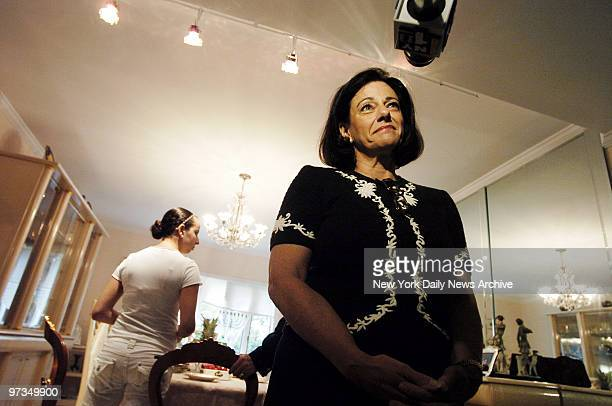 Republican Senate candidate Kathleen McFarland takes questions from news media at the home of a friend in Manhattan Beach Brooklyn McFarland broke...