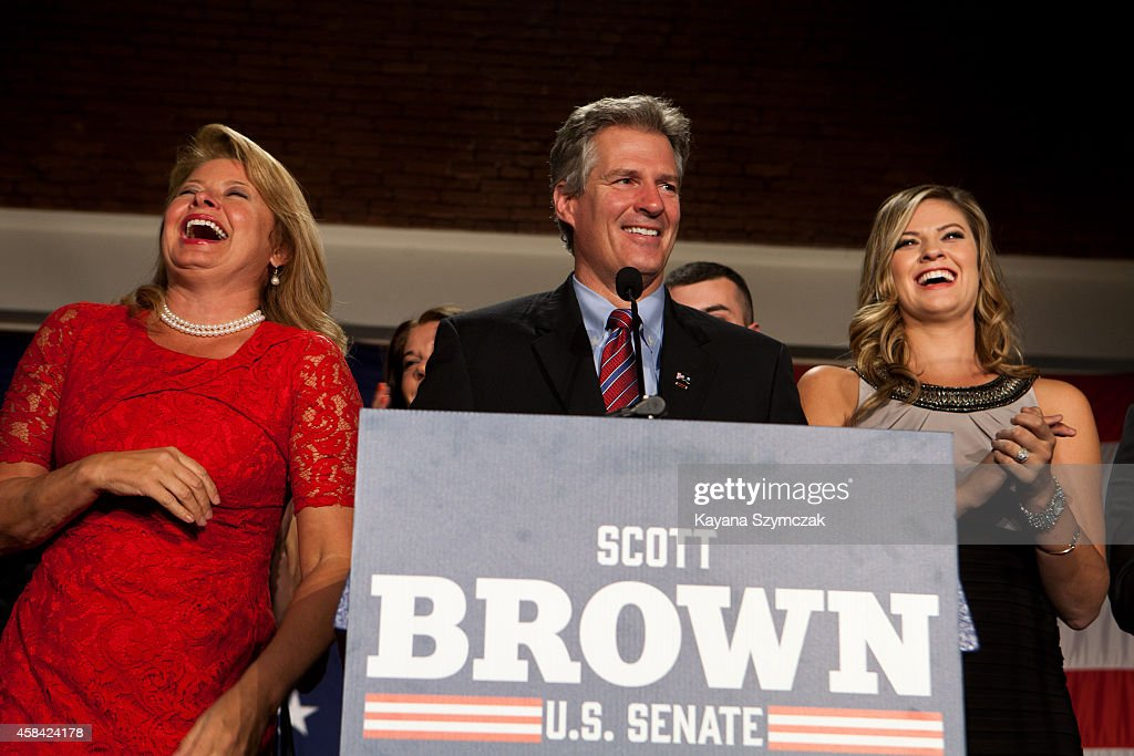 New Hampshire Senate Hopeful Scott Brown Gathers With Supporters On Election Night