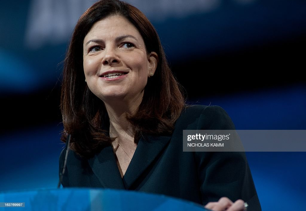 US Republican Senator from New Hampshire Kelly Ayotte speaks at the Conservative Political Action Conference (CPAC) in National Harbor, Maryland, on March 15, 2013. AFP PHOTO/Nicholas KAMM