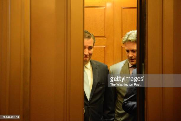 Republican Senator Ted Cruz leaves the Senate floor after voting on Capitol Hill in Washington DC June 22 2017 Cruz is one of four Republican...