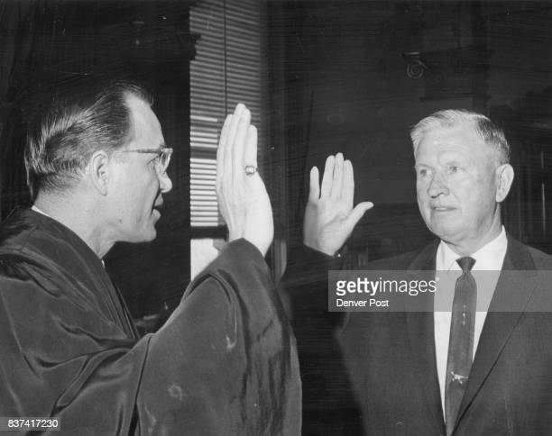 Republican State Senator Sworn In A Wayne Denny RLa Jara Justice Hilbert Schauer Credit Denver Post