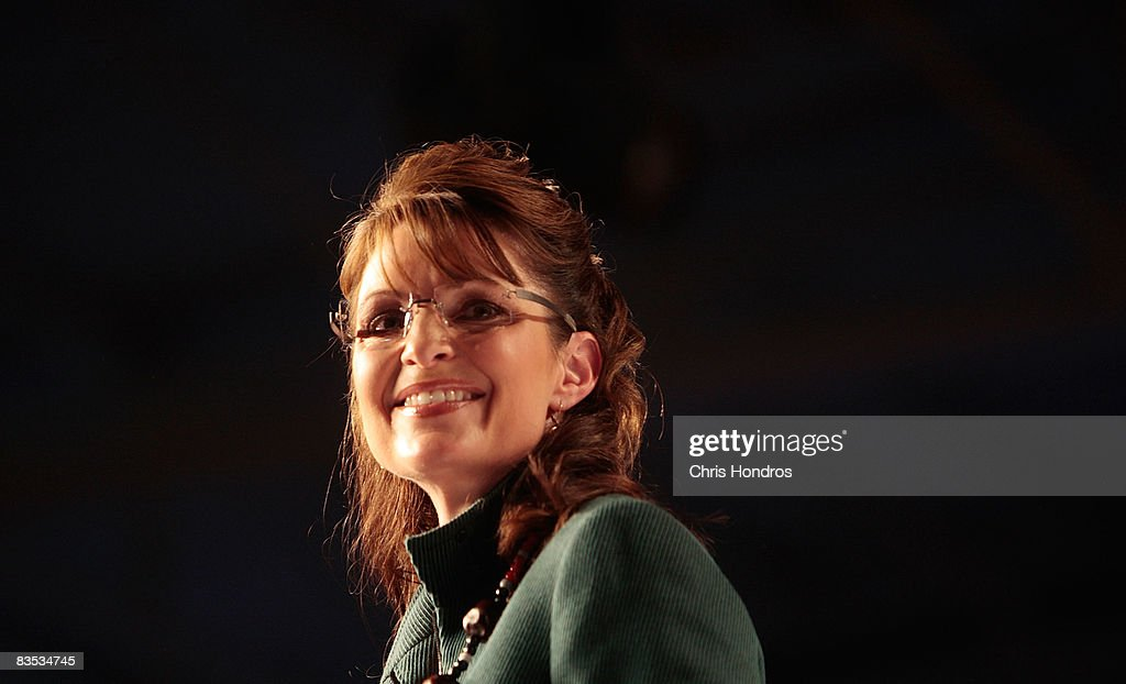 Republican U.S. vice presidential candidate Gov. Sarah Palin (R-AL) speaks at a campaign rally at Rickenbacher Field on November 2, 2008 in Columbus, Ohio. Palin and Republican presidential nominee Sen. John McCain (R-AZ) continue to campaign in battleground states before the election on November 4.
