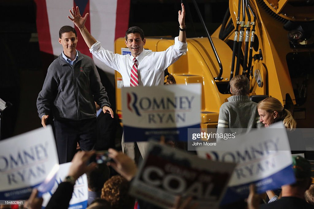 Republican vice presidential candidate U.S. Rep. Paul Ryan (R-WI) greets people at a campaign rally at Gradall Industries on October 27, 2012 in New Philadelphia, Ohio. Analysts have predicted the swing state could possibly decide the upcoming election and both presidential candidates and their running mates have been visiting the state frequently in the final stretch.