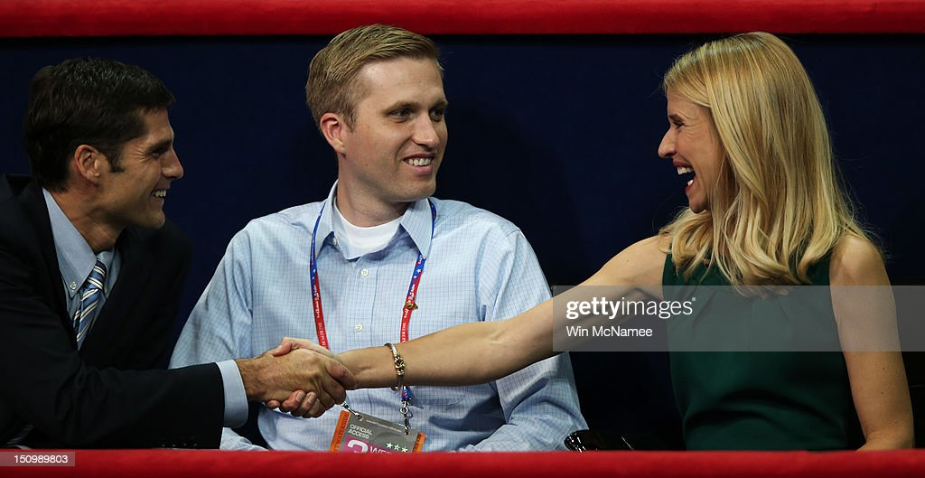 Republican vice presidential candidate, U.S. Rep. Paul Ryan's (R-WI) wife Janna Ryan shakes hands with Matt Romney during the third day of the Republican National Convention at the Tampa Bay Times Forum on August 29, 2012 in Tampa, Florida. Former Massachusetts Gov. Mitt Romney was nominated as the Republican presidential candidate during the RNC, which is scheduled to conclude August 30.