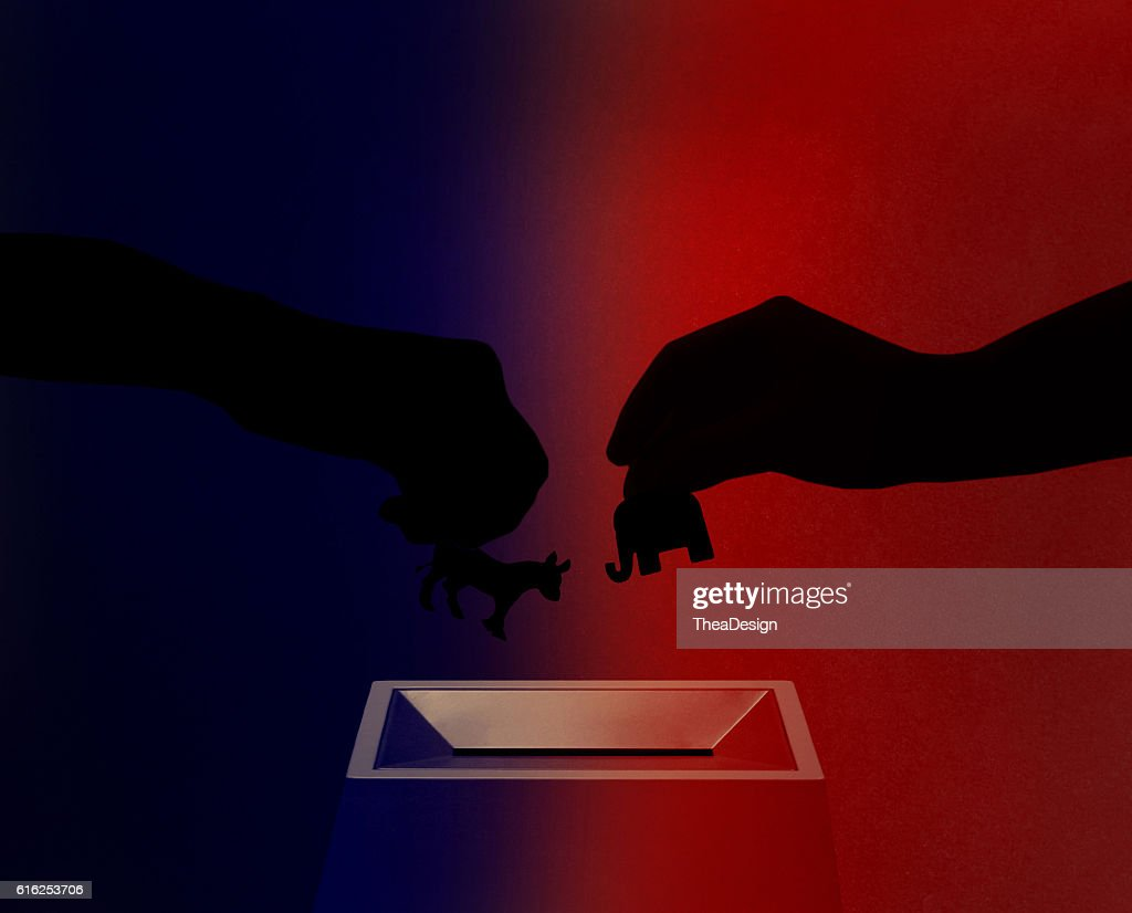 Republican vs. demócratas : Foto de stock