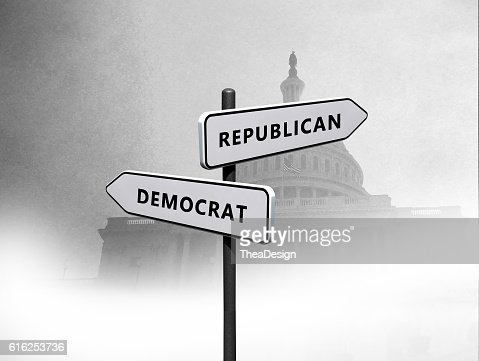 Republicana vs democratas : Foto de stock