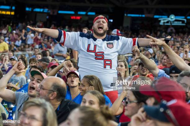 Republicans fan watch the 56th Congressional Baseball Game at Nationals Park on June 15 2017