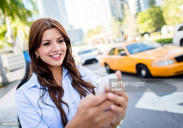 Requesting a taxi from a cell phone