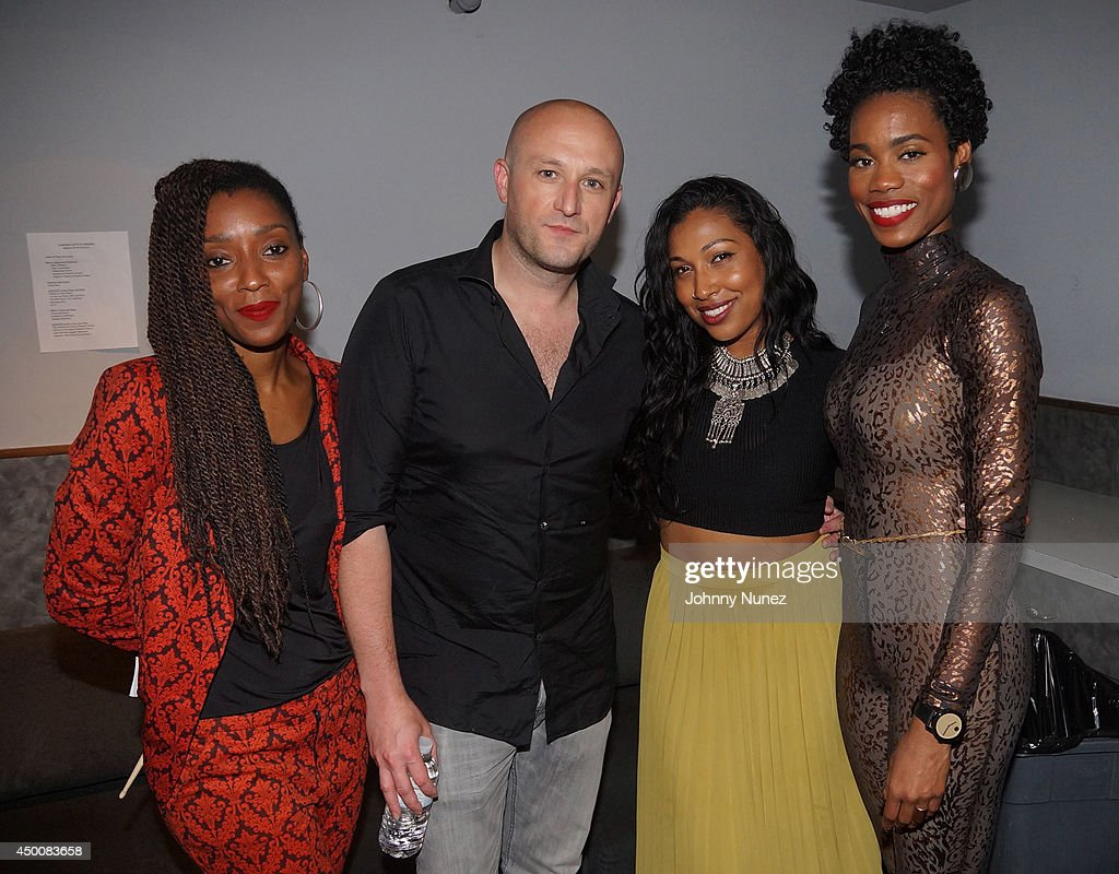 Res Fabrizio Sotti Melanie Fiona and Algebra Blessett attend Fabrizio Sotti And Friends In Concert at Highline Ballroom on June 4 2014 in New York...
