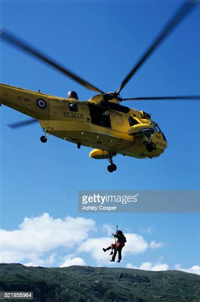RAF Rescue Helicopter Airlifting Casualty