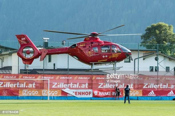 rescue helicopter for Abdelhak Nouri of Ajax during the friendly match between Ajax Amsterdam and SV Werder Bremen at Lindenstadion on July 08 2017...