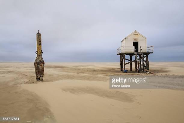 Rescue hut on Vlieland (Friesland, Netherlands)