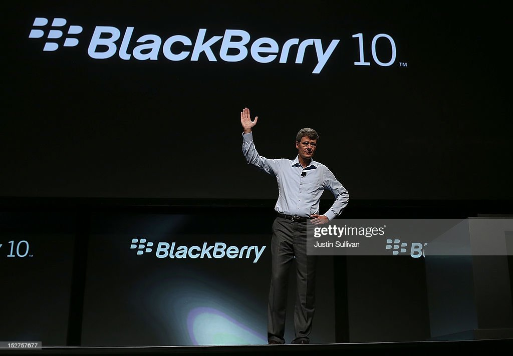 Research in Motion (RIM) CEO Thorsten Heins speaks during the BlackBerry Jam 2012 conference at the San Jose Convention Center on September 25, 2012 in San Jose, California. RIM CEO Thorsten Heins kicked off the three-day BlackBerry Jam 2012 conference with a look at the new BlackBerry 10 opereating system. The conference runs through September 27.
